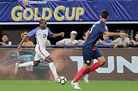 Arlington, TX - Saturday July 22, 2017: Darlington Nagbe during a 2017 Gold Cup Semifinal match between the men's national teams of the United States (USA) and Costa Rica (CRC) at AT&T stadium.