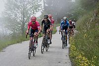 Michael Valgren (DEN/EF Education - Nippo) up the cloudy Col du Pré (HC/1748m/12.6km@7.7%)<br /> <br /> 73rd Critérium du Dauphiné 2021 (2.UWT)<br /> Stage 7 from Saint-Martin-le-Vinoux to La Plagne (171km)<br /> <br /> ©kramon