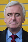© Joel Goodman - 07973 332324 . 16/06/2016 . Manchester , UK .  JOHN MCDONNELL arrives . Labour Shadow Chancellor , John McDonnell MP and former Labour Prime Minister , Gordon Brown , speak at a Labour IN campaign event at the Union at the University of Manchester . Photo credit : Joel Goodman