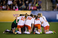 Virginia. UCLA advanced on penalty kicks after defeating Virginia, 1-1, in regulation time at the NCAA Women's College Cup semifinals at WakeMed Soccer Park in Cary, NC.