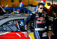 Feb 07, 2009; Daytona Beach, FL, USA; NASCAR Sprint Cup Series driver Scott Speed during practice for the Daytona 500 at Daytona International Speedway. Mandatory Credit: Mark J. Rebilas-