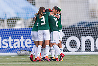 Bradenton, FL - Sunday, June 12, 2018: Mexico, goal celebration during a U-17 Women's Championship Finals match between USA and Mexico at IMG Academy.  USA defeated Mexico 3-2 to win the championship.