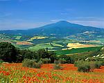 Italy, Tuscany, view at Monte Amiata