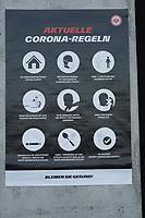 Corona Regeln für die 25.000 Zuschauer bei Eintracht Frankfurt - Frankfurt 21.08.2021: Eintracht Frankfurt vs. FC Augsburg, Deutsche Bank Park, 2. Spieltag Bundesliga