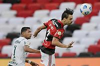 30th May 2021; Maracana Stadium, Rio de Janeiro, Brazil; Brazilian Serie A, Flamengo versus Palmeiras; Rodrigo Caio of Flamengo wins the header from Rony of Palmeiras