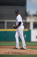 Detroit Tigers pitcher Angel DeJesus (22) during a Florida Instructional League game against the Pittsburgh Pirates on October 16, 2020 at Joker Marchant Stadium in Lakeland, Florida.  (Mike Janes/Four Seam Images)