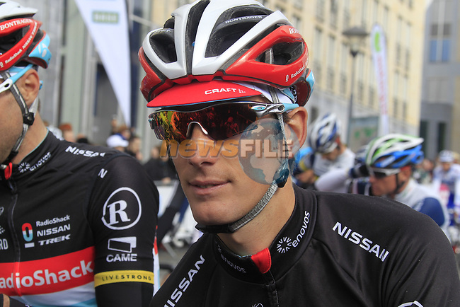 Andy Schleck (LUX) Radioshack-Nissan at the start of the 98th edition of Liege-Bastogne-Liege outside the Palais des Princes-Eveques, running 257.5km from Liege to Ans, Belgium. 22nd April 2012.  <br /> (Photo by Eoin Clarke/NEWSFILE).