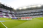 Real Madrid's players  and Atletico de Madrid's players during Champions League 2014/2015 Quarter-finals 2nd leg match.April 22,2015. (ALTERPHOTOS/Acero)