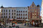 Deutschland, Bayern, Oberbayern, Rosenheim (Altstadt): Wochenmarkt am Max-Josefs-Platz | Germany, Bavaria, Upper Bavaria, Rosenheim (old town): market at Max-Josefs-square
