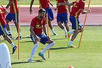 Spanish Gerard Pique during the second training of the concentration of Spanish football team at Ciudad del Futbol de Las Rozas before the qualifying for the Russia world cup in 2017 August 30, 2016. (ALTERPHOTOS/Rodrigo Jimenez) /NORTEPHOTO