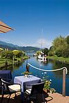 Oesterreich, Kaernten, Millstaetter See, Doebriach: Romantik Hotel Seefischer, Cafe, Restaurant | Austria, Carinthia, Lake Millstatt, Doebriach: Romantik Hotel Seefischer, Cafe, Restaurant