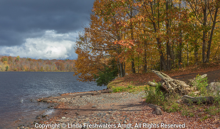 Storm clouds over the Chippewa Flowage in northern Wisconsin.