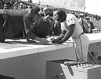 mack jones au Match des Expos, le 14 avril 1969, <br /> au Parc Jarry