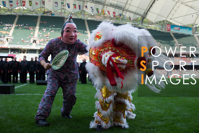 Opening Ceremony on Day 1 of the Cathay Pacific / HSBC Hong Kong Sevens 2013 at Hong Kong Stadium, Hong Kong. Photo by Aitor Alcalde / The Power of Sport Images