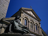 Irish church on Queen street east in downtown Toronto.<br />