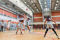 Antonia Delaere (6) of Belgium and Amy Okonkwo (0) of Nigeria pictured during a basketball game between the national teams of Belgium , called the Belgian Cats , and Nigeria on Sunday 30 th of May 2021 in Kortrijk , Belgium . PHOTO SPORTPIX.BE | SPP | STIJN AUDOOREN