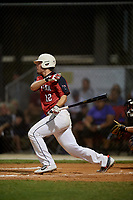 Kip Fougerousse during the WWBA World Championship at the Roger Dean Complex on October 19, 2018 in Jupiter, Florida.  Kip Fougerousse is a third baseman from Linton, Indiana who attends Linton-Stockton High School and is committed to Indiana.  (Mike Janes/Four Seam Images)