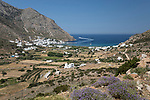 Greece, South Aegean, Cyclades, Sifnos  island, Kamares: View over Kamares and Kamares Bay | Griechenland, Suedliche Aegaeis, Kykladen, Insel Sifnos, Kamares: Blick ueber Kamares und Kamares Bay