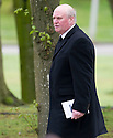 Former Rangers player Colin Stein leaves Mortonhall Crematorium after the funeral service for Sandy Jardine.