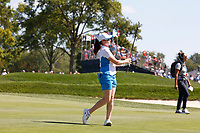 6th September 2021: Toledo, Ohio, USA; Leona Maguire of Team Europe hits her second shot and the first hole during her singles match in the Solheim Cup on September 6, 2021 at Inverness Club in Toledo, Ohio.