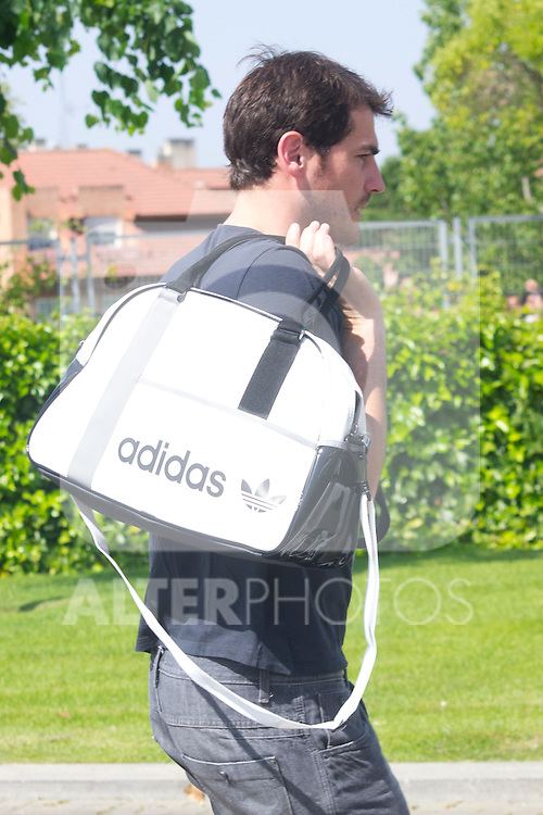 01.06.2012. Arrival of the players in the Spanish football team squad for the European Championship in Poland and Ukraine to the Ciudad del Futbol of Las Rozas, Madrid. In the image Iker Casillas (Alterphotos/Marta Gonzalez)