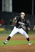 Central Florida Knights pitcher Eric Skoglund (25) during the season opening game against the Siena Saints at Jay Bergman Field on February 14, 2014 in Orlando, Florida.  UCF defeated Siena 8-1.  (Copyright Mike Janes Photography)