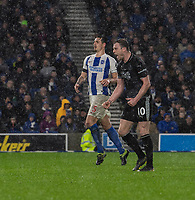 Burnley's Ashley Barnes celebrates  scoring his side's third goal from a penalty<br /> <br /> Photographer David Horton/CameraSport<br /> <br /> The Premier League - Brighton and Hove Albion v Burnley - Saturday 9th February 2019 - The Amex Stadium - Brighton<br /> <br /> World Copyright © 2019 CameraSport. All rights reserved. 43 Linden Ave. Countesthorpe. Leicester. England. LE8 5PG - Tel: +44 (0) 116 277 4147 - admin@camerasport.com - www.camerasport.com