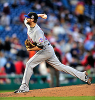 30 September 2009: New York Mets' pitcher Bobby Parnell in action against the Washington Nationals at Nationals Park in Washington, DC. The Nationals rallied in the bottom of the 9th inning on a Justin Maxwell walk-off Grand Slam to win 7-4 and sweep the Mets' 3-game series, capping the Nationals' 2009 home season. Mandatory Credit: Ed Wolfstein Photo
