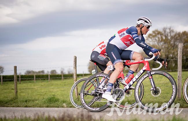 Toms Skujiņš (LVA/Trek - Segafredo)<br /> <br /> 55th Amstel Gold Race 2021 (1.UWT)<br /> 1 day race from Valkenburg to Berg en Terblijt; raced on closed circuit (NED/217km)<br /> <br /> ©kramon