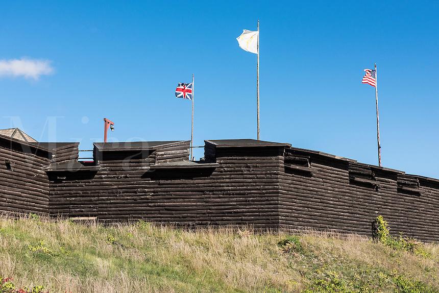 Fort William Henry, Lake George, New York, USA.