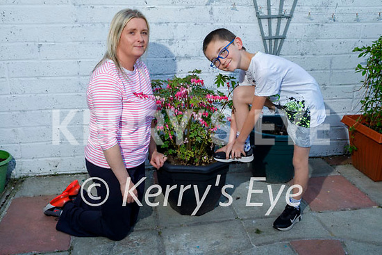 Thomas Walsh with his mom Margaret Diggins, who is doing a 10k run on Sunday in aid of Majella Kearney who has Leukaemia.