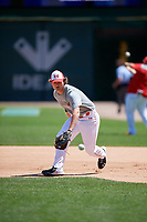 Blaze Jordan (7) during the Under Armour All-America Game, powered by Baseball Factory, on July 22, 2019 at Wrigley Field in Chicago, Illinois.  Blaze Jordan attends DeSoto Central High School in Southaven, Mississippi and is committed to Mississippi State University.  (Mike Janes/Four Seam Images)