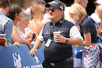 Brendan O'Carroll of Mrs Browns Boys fame signs autographs during the Bulmers 2018 Celebrity Cup at the Celtic Manor Resort. Newport, Gwent,  Wales, on Saturday 30th June 2018<br /> <br /> <br /> Jeff Thomas Photography -  www.jaypics.photoshelter.com - <br /> e-mail swansea1001@hotmail.co.uk -<br /> Mob: 07837 386244 -