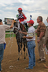 25 May 2009 : Dubai Majesty with Jamie Theriot in the irons after winning the 6th running of the G3 Winning Colors stakes at Churchill Downs in Louisville, Kentucky.