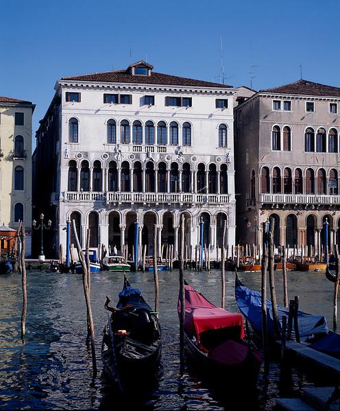 5IT-V1-F13-2000-1<br /><br />Italy, Venice, Palazzo Loredan / photo<br /><br />Venice (Veneto, Italy),<br />Canal Grande,<br />left bank - Riva sinistra,<br />Palazzo Loredan<br />(13th century).<br />- Exterior view, to the left: Palazzo<br />Farsetti (12th century). -<br />Photo, undated.<br /> (Newscom TagID: akgphotos141019.jpg) [Photo via Newscom]
