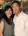Sue and Randy Sim at the Champagne & Ribs event at the Contemporary Arts Museum Thursday May 13,2010.  (Dave Rossman Photo)