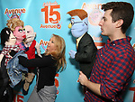 "Matt Dengler with Avenue Q & Puppetry Fans during ""Avenue Q"" Celebrates World Puppetry Day at The New World Stages on 3/21/2019 in New York City."
