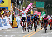LLANOGRANDE - COLOMBIA, 14-02-2019: Juan Sebastián Molano, (COL) de UAE Emirates, gana la tercera etapa del Tour Colombia 2.1 2019 con un recorrido de 167.6 Km, que se corrió en un circuito con salida y llegada en el Complex Llanogrande. / Juan Sebastian Molano (COL) of UAE Emirates team wins the third stage of the Tour Colombia 2.1 2019 the third stage of the Tour Colombia 2.1 2019 with a distance of 167.6 km, which was run on a circuit with start and finish at the Complex Llanogrande. Photo: VizzorImage / Fedeciclismo Prensa / Cont.