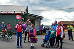 Eager fans at the roadside during Stage 1 of the 2018 Artic Race of Norway, running 184km from Vadso to Kirkenes, Norway. 16th August 2018. <br /> <br /> Picture: ASO/Gautier Demouveaux | Cyclefile<br /> All photos usage must carry mandatory copyright credit (© Cyclefile | ASO/Gautier Demouveaux)
