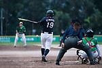 #19 Himeno Mayu of Japan bats during the BFA Women's Baseball Asian Cup match between Pakistan and Japan at Sai Tso Wan Recreation Ground on September 4, 2017 in Hong Kong. Photo by Marcio Rodrigo Machado / Power Sport Images