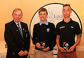 Iain Harvey, President, Scottish Golf Union presents  the team from East Renfrewshire with their runners up trophy for The Paul Lawrie Foundation, Scottish Schools Golf Boys Team Championship: The Paul Lawrie Foundation Scottish Schools Golf Championships played at Murrayshall House Hotel and Golf Courses on 10th June 2013: Picture Stuart Adams www.golftourimages.com: 10th June 2013