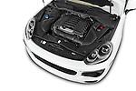Car Stock 2017 Porsche Cayenne Diesel 5 Door SUV Engine high angle detail view