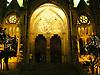 """christmas decoration with peace pigeon at the portal of the parrish church Saint Bartholomew<br /> <br /> decoración de navidad con paloma de paz y """"Pau al Mon"""" en el portal de la parroquia San Bartolomé (cat. Sant Bartomeu)<br /> <br /> Weihnachtsdekoration mit Friedenstaube und Pau al Mon (Frieden auf Erden) am Portal der Pfarrkirche Sankt Bartholomäus<br /> <br /> 2272 x 1704 px<br /> 150 dpi: 38,47 x 28,85 cm<br /> 300 dpi: 19,24 x 14,43 cm"""