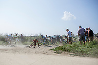 Cornering the gravel (and failing at it)<br /> <br /> 92th Schaal Sels 2017