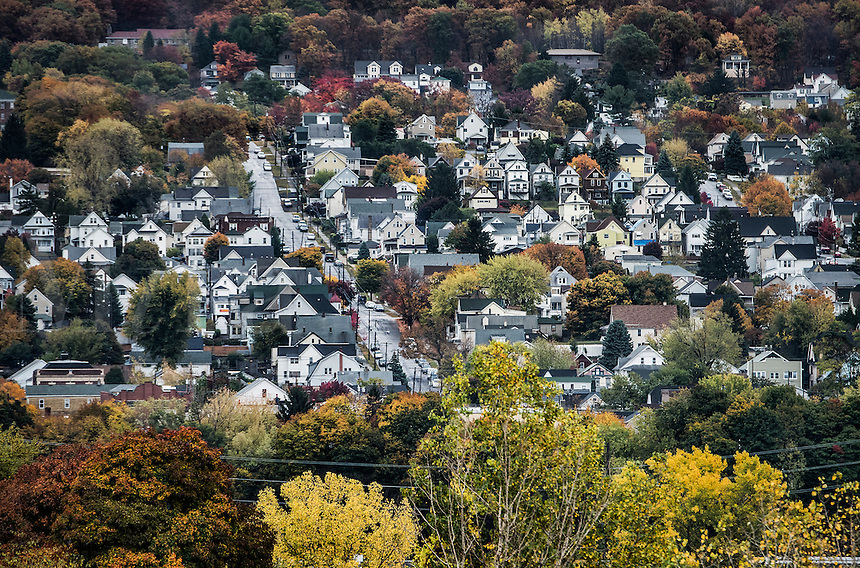 Cluster of houses, Scranton, Pennsylvania, USA