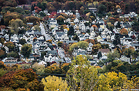 Cluster of houses, Scranton, Pennsylvania, USA