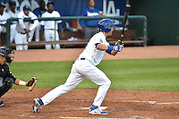 Cody Bellinger (16) of the Ogden Raptors at bat against the Grand Junction Rockies during Opening Night of the Pioneer League Season on June 16, 2014 at Lindquist Field in Ogden, Utah. (Stephen Smith/Four Seam Images)