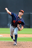 Bowling Green Hot Rods pitcher Paul Campbell (11) delivers a pitch during a Midwest League game against the Wisconsin Timber Rattlers on July 23, 2018 at Fox Cities Stadium in Appleton, Wisconsin. Wisconsin defeated Bowling Green 5-3. (Brad Krause/Four Seam Images)