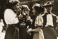 "Historical Views:  Lewis Hine Photograph ""Lunchtime, 1915"".  Photo '78.  Reference only."