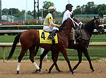 June 21, 2014: Shown here in the post parade, Unbridled Reward and jockey Alan Garcia would finish second in the Debutante Stakes (6f, 2yo fillies) at Churchill Downs. Owner John Oxley, trainer Mark Casse. ©Mary M. Meek/ESW/CSM